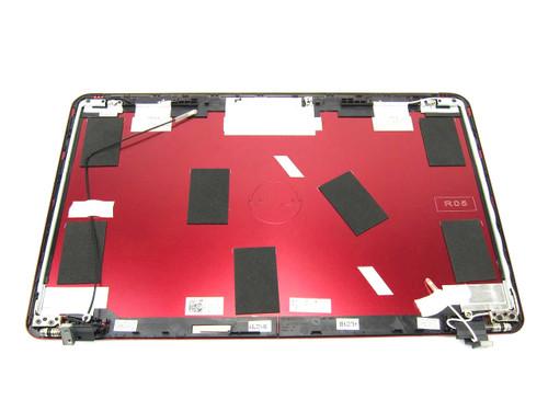 "Dell Inspiron 14z (N411z) 14"" Red Laptop LCD Back Cover & Hinges - 1HJCC"