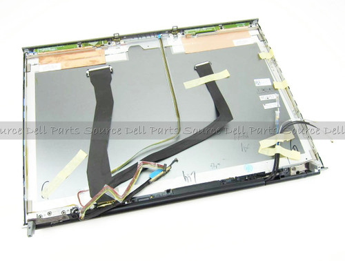 """Dell Precision M6400 17"""" LCD Back Cover Lid & Hinges - 1MDY1"""