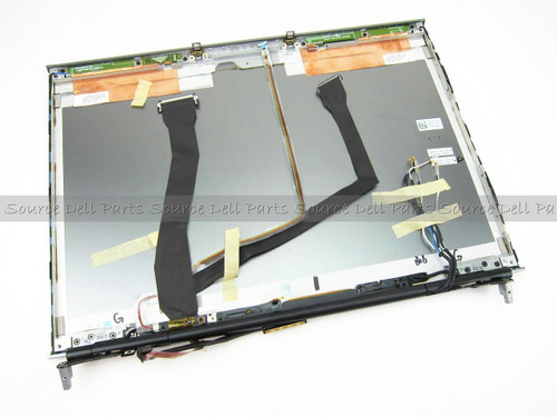 """Dell Precision M6400 17"""" LCD Back Cover Lid & Hinges - K886F"""