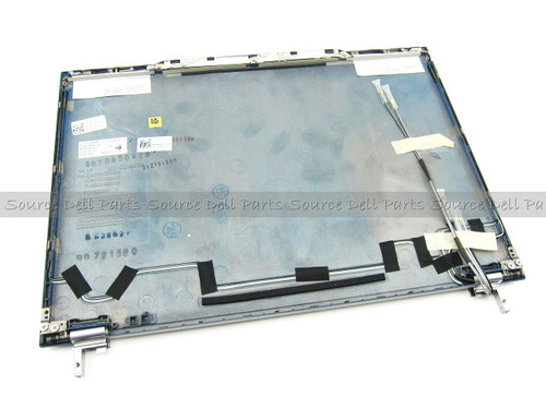 """Dell Latitude E4300 13.3"""" Blue LCD Back Cover Lid Assembly w/ WWAN Bump & Hinges - XTYG0"""