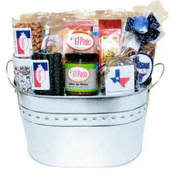 Big Texas Galvanized Tin Gift Basket