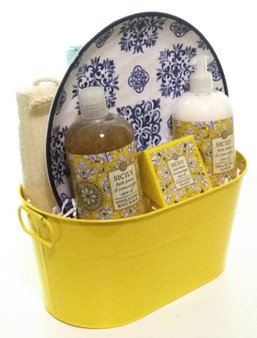 Sicily and Lemon Spa Gift Tin Side View A