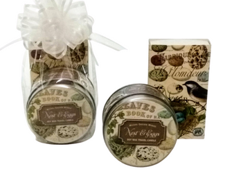 Nest and Eggs Soy Candle and Matches Gift Set