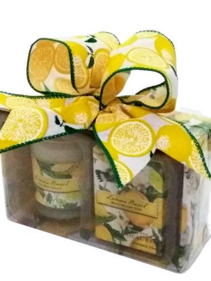 Lemon Basil Mini Candle and Soap Gift Pack