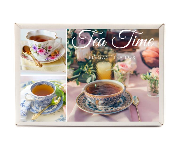 Elegant Tea Gift Box (Choice of Teacup Pattern)