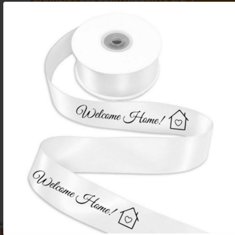 Welcome Home Printed Ribbon