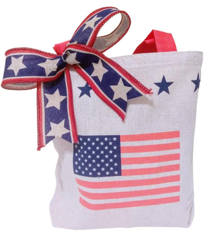 Mini Patriotic Canvas Tote Bag
