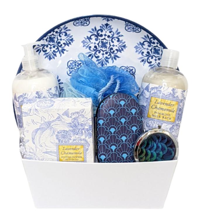 Lavender and Chamomile Spa Gift Box