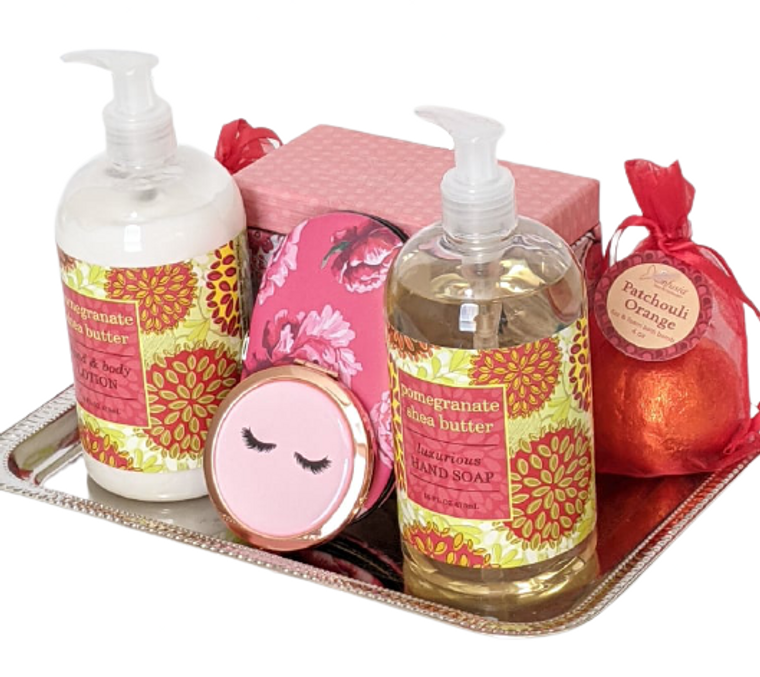 Pomegranate Shea Butter Gift Tray Side View