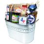 Big Texas Galvanized Tin Gift Basket Second Side View