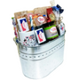 Big Texas Galvanized Tin Gift Basket Side View