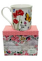 Pink Floral Boxed Notecards with Thank You Mug