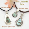 Sample of Pendants with various Leather Cords Four Corners USA OnLine Native American Jewelry