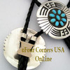 Overlay Sterling Silver Leather Bolo Native American Navajo Roscoe Scott NAM-1429 Four Corners USA OnLine