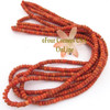 5mm Rounded Heishi Apple Coral Organic Beads 22 Inch Strand AC-13011 Four Corners USA OnLine Jewelry Making Beading Supplies
