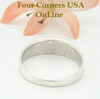 Turquoise Inlay Band Mens Ring Size 11 Four Corners USA OnLine Native American Ella Cowboy Silver Jewelry WB-1457
