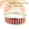 Spiny Oyster Inlay Band Ring Size 11 Native American Navajo Ella Cowboy Four Corners USA OnLine Silver Jewelry WB-1454