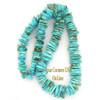 Graduated FreeForm Slice Kingman Turquoise Beads Designer 16 Inch Strand Four Corners USA OnLine Jewelry Making Supplies GFF19