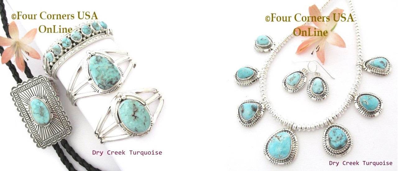 Fabulous Dry Creek Turquoise at Four Corners USA OnLine Native American Artisan Jewelry
