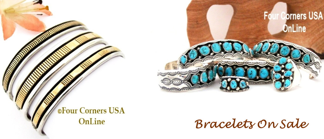 Native American Jewelry Bracelets On Sale Now at Four Corners USA OnLine