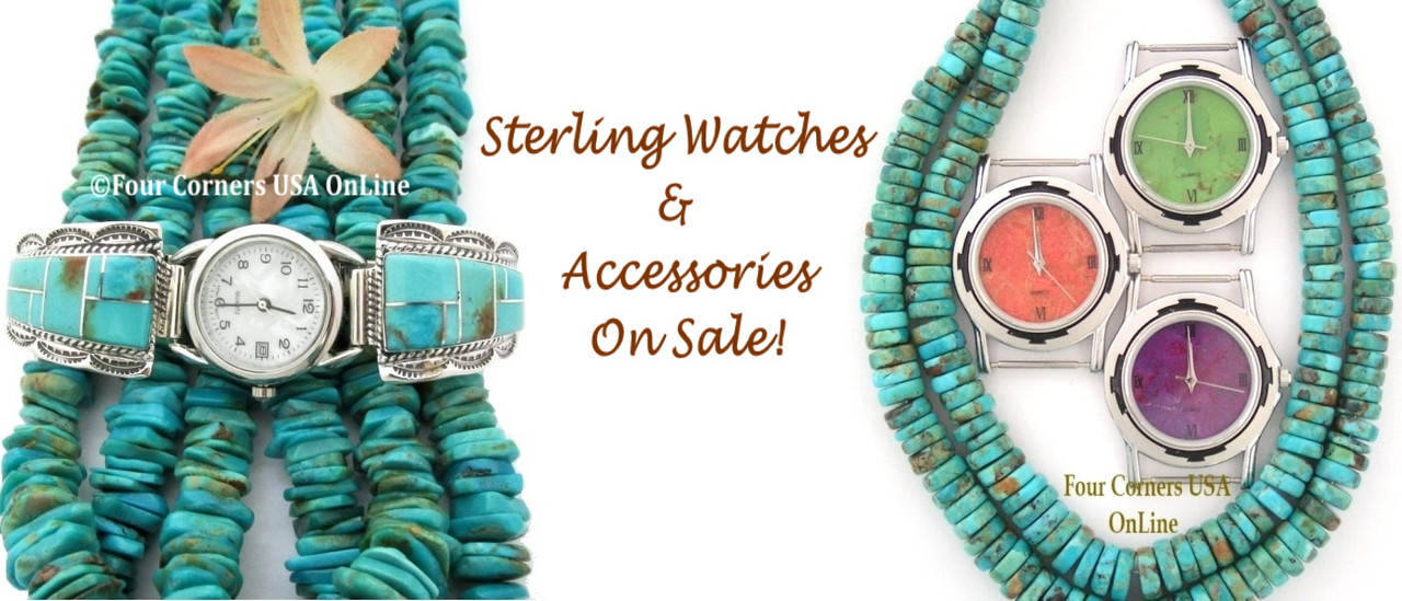Watches and Accessories On Sale Now at Four Corners USA OnLine Native American Jewelry