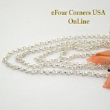 18 Inch 1.8mm Rolo Sterling Silver Chain Four Corners USA OnLine Jewelry Accessories