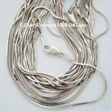 14 inch Square Snake Sterling Silver Chain with Lobster Clasp Four Corners USA OnLine Jewelry