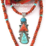 Turquoise Spiny Bead Necklace