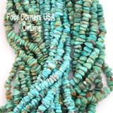 Kingman Turquoise Nugget Bead Strands