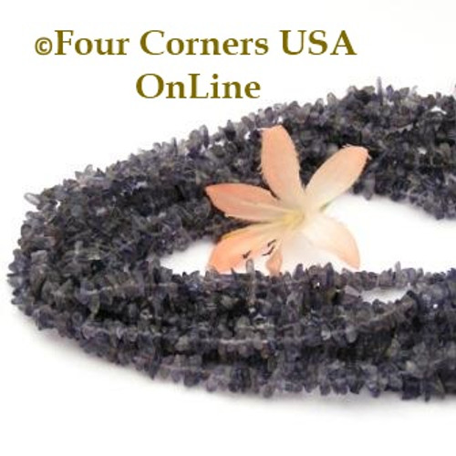 Iolite Mini Chip Bead Strand 36 Inch Closeout Final Sale CP-IM-09013 Four Corners USA OnLine Jewelry Supplies