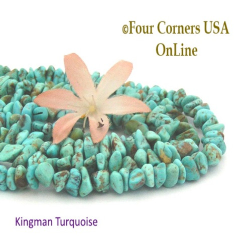 On Sale Now! 8mm Blue Green Kingman Turquoise Nugget Bead Strands Group 22 Four Corners USA OnLine Jewelry Making Supplies