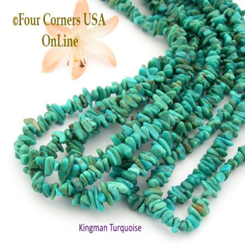 On Sale Now! 6mm Teal Kingman Turquoise Nugget Bead Strands Group 28 Four Corners USA OnLine Jewelry Making Supplies