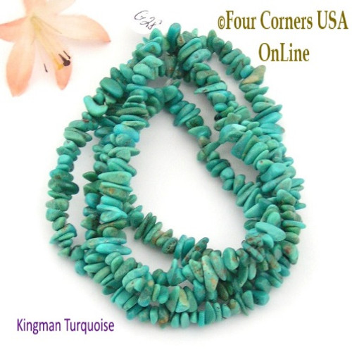 6mm Teal Kingman Turquoise Nugget Bead Strands Group 28 Four Corners USA OnLine Jewelry Making Supplies