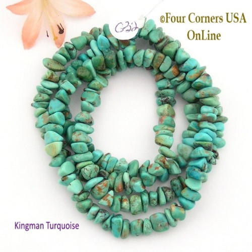 7mm Kingman Turquoise Nugget Bead Strands Group 32 Four Corners USA OnLine Jewelry Making Supplies