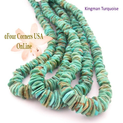 On Sale Now! 12mm Graduated FreeForm Slice Kingman Turquoise Beads Designer 16 Inch Strand Jewelry Making Supplies GFF42 Four Corners USA OnLine