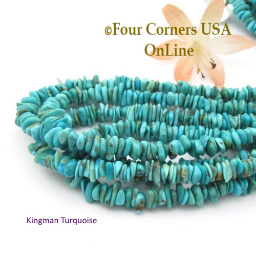 On Sale Now! 5mm Blue Green Kingman Turquoise Nugget Bead Strands Group 34 Four Corners USA OnLine Southwest Jewelry Making Supplies