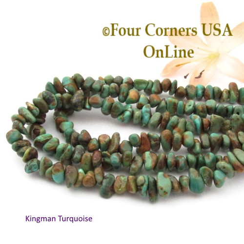 On Sale Now! 5mm Green Coppery Kingman Turquoise Nugget Bead Strands Group 37 Four Corners USA OnLine Southwest Jewelry Making Supplies