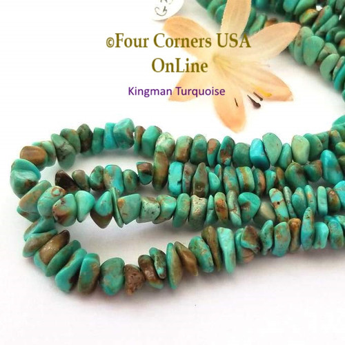 6-7mm Green Teal Mix Kingman Turquoise Nugget Bead Strands Group 39 Four Corners USA OnLine Jewelry Making Beading Supplies