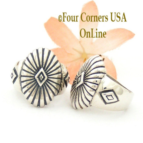 Sterling Silver Concho Ring Relios Southwest Spirit Jewelry Collection Closeout Final Sale Four Corners USA OnLine