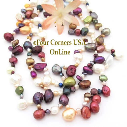 Multi Color Multi Shape Freshwater Pearl Bead Strands Four Corners USA OnLine Jewelry Making Beading Craft Supplies