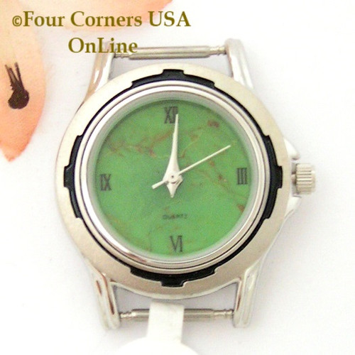 Women's Mohave Green Kingman Turquoise Stone Stainless Watch Face 12mm pin NAWF-MG-14W Four Corners USA OnLine Southwest Native American Watch Accessories