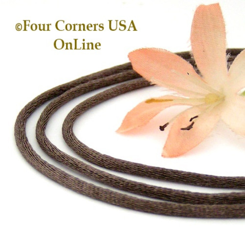 2mm Taupe Satin Sterling 16 to 18 Inch Adjustable Necklace Cord FCN-1505 Four Corners USA OnLine Artisan Jewelry