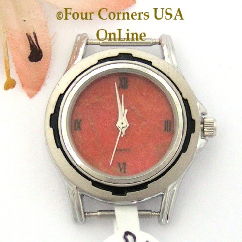23W - Women's Natural Apple Coral Stainless Watch Face 12mm pin NAWF-AC-23W Four Corners USA OnLine