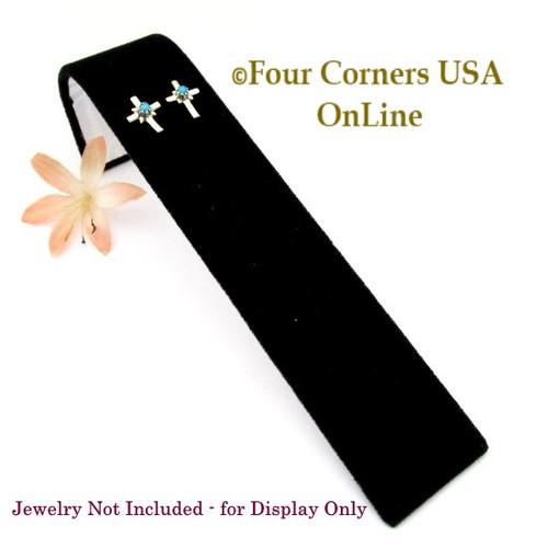 5 Pair Earring Bracelet Deluxe Black Velvet Display Ramps 6 Units Final Sale Display-003 Four Corners USA OnLine Gently Used Jewelry Displays