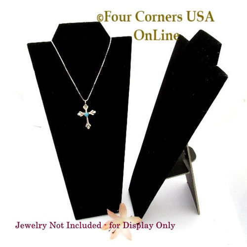 Deluxe Black Velvet Necklace 8 3/4 Inch Display Stand 6 Units Final Sale Display-008 Four Corners USA OnLine Gently Used Jewelry Displays