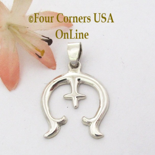 Sterling Naja Pendant Navajo Artisan Isabelle Kee NAP-1689 Four Corners USA OnLine Native American Silver Jewelry