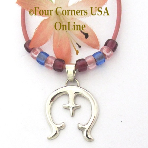 Sterling Naja Pendant 15 Inch Adjustable Necklace Navajo Artisan Isabelle Kee NAP-1695 Four Corners USA OnLine Native American Silver Jewelry