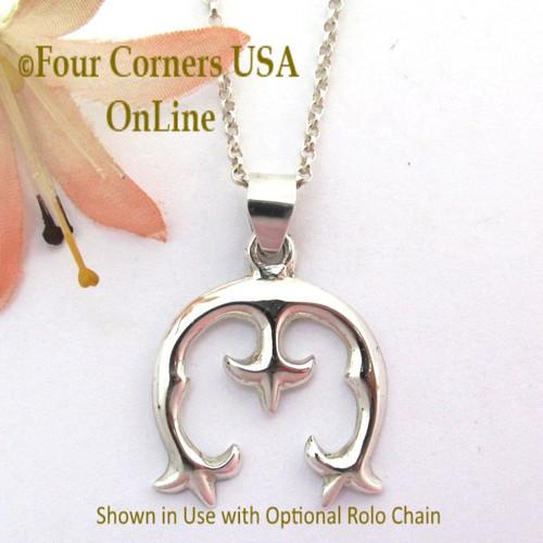 Naja Silver Pendant Navajo Artisan Isabelle Kee NAJA-1694 Four Corners USA OnLine Native American Silver Jewelers