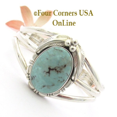 Dry Creek Turquoise Cuff Bracelet Navajo Silversmith Thomas Francisco NAC-1459 Four Corners USA OnLine Native American Jewelry