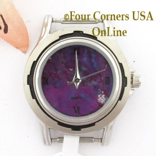 Women's 20W Mohave Purple Kingman Turquoise Stone Stainless Watch Face 12mm pin NAWF-MP-20W Four Corners USA OnLine Native American Jewelry Supplies